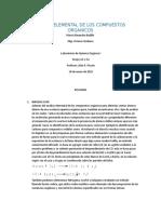 Anaisis Elemental de Los Compuestos Organicos
