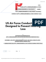 US Air Force Conducts Study Designed to Prevent Hearing Loss