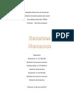Trabajo Recursos Humano PDF Curso