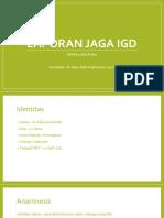 Laporan Jaga 20 April 2017 - Dr. Woro