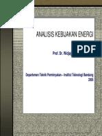 Analisis Kebijakan Energi (Prof. Dr. Widjajono Partowidagdo,