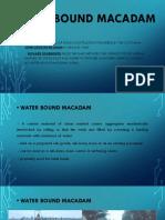 Water Bound Macadam
