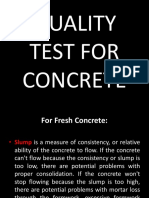Quality Test for Concrete