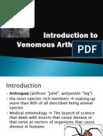Venomous Arthropods