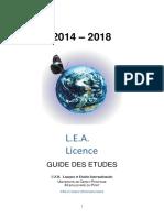 Guide Des Etudes Lea 2014 - 2018