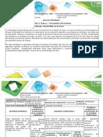 Guía de actividades y rúbrica de evaluación Etapa 2. Describir el producto
