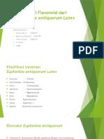Isolasi Flavonoid Dari Euphorbia Antiquorum Latex Ppt