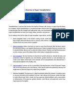 An Overview of Organ Transplantation