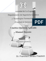Cinética Química Aplicada - Manual Docente