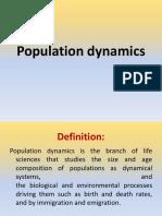 Population Dynamics New