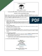 Fidia Kwa Wenye Amana Mbinga Community Bank Plc (Iliyo Chini Ya Ufilisi)