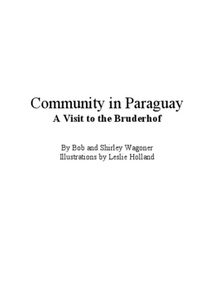Community in Paraguay - A Visit to the Bruderhof | Skirt | Altar