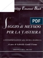 Docfoc.com-Carl Philipp Emanuel Bach - Saggio Di Metodo Per La Tastiera, l'Interpretazione Della Musica Barocca - CURCI MILANO 1973