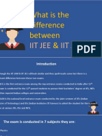 What is the difference between IIT JEE & IIT JAM exam?