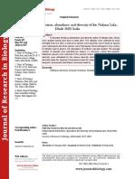 Malacofaunal distribution, abundance and diversity of the Nakana Lake, Dhule (MS) India