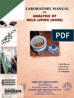 NTD - Lab Manual of Analysis of Milk Lipids (Ghee) - 2007 - India
