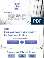 Three Major Approaches to Business Ethics