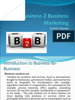 Module 1 - Business 2 Business Marketing