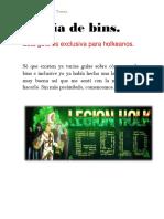 Guía básica de bins