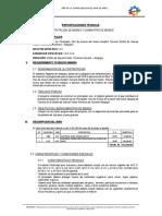 especificaciones tecnicas de Material de Base y Sub Base
