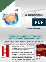 Perfeccionamiento de tratados internacionales en el Perú