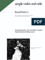 Making a Simple Violin and Viola by Ronald Roberts