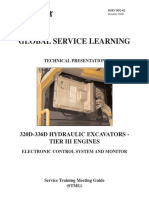 Cat 320D-336D Excavator Electronic Control System