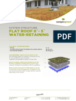 System Structure Green Roof 0-5 Water Retaining