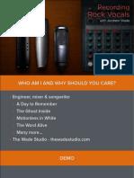 Recording Rock Vocals Presentation Day 2
