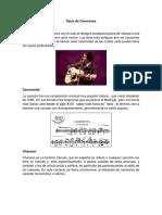 Tipos de Canciones.docx