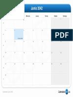 Calendario Junio 2042