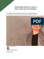 Nuestros Intelectuales Dieron La Razón a La Hispanofobia Creada Por Los Enemigos de España