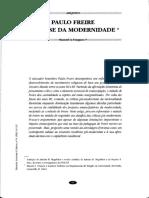 Pauo Freire e a Crise Da Modernidade