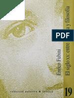 FUBINI, E. - El siglo XX entre música y filosofía.pdf