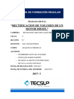 Rectificacion de Volumen Ciclo Real