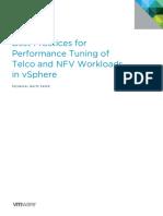 Vmware Tuning Telco Nfv Workloads Vsphere White Paper