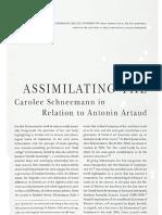 Assimilating the Unassimilable 1997CaroleeSchneemann