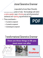Transformational Generative Grammar Final