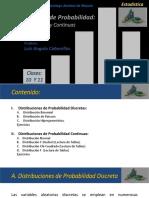 Clase 10 -11 - Distribuciones Conocidas Discretas y Continua