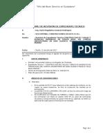 Informe  de Revision de Expediente Tecnico