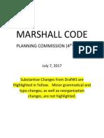 Marshall Code 4th Draft July 2017