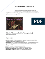 Obra de Teatro de Romeo y Julieta