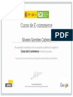 Certificado de Curso E-Commerce