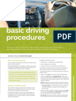 Basic Driving Procedures