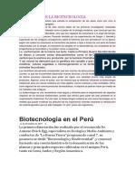 Evolucion de La Biotecnologia