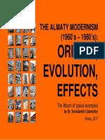 The Almaty Modernism (1960's – 1980's)