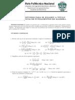 Fundamentos Del Algebra Ipn Zac