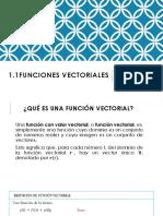 1.1 Funciones Vectoriales Clase 1