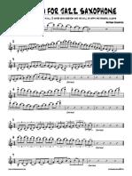 Antosha Haimovich - Arpeggio for Jazz Saxophone