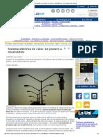 Sistema Eléctrico de Zulia_ de Pionero a Desatendido - LUZ Agencia de Noticias